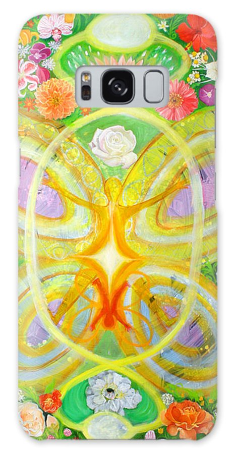 Flowers Galaxy S8 Case featuring the painting Birth by Anne Cameron Cutri