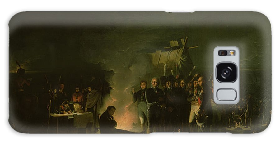 Camp Galaxy S8 Case featuring the photograph Bivouac Of Napoleon I 1769-1821 On The Battlefield Of The Battle Of Wagram, 5th-6th July 1809, 1810 by Adolphe Roehn