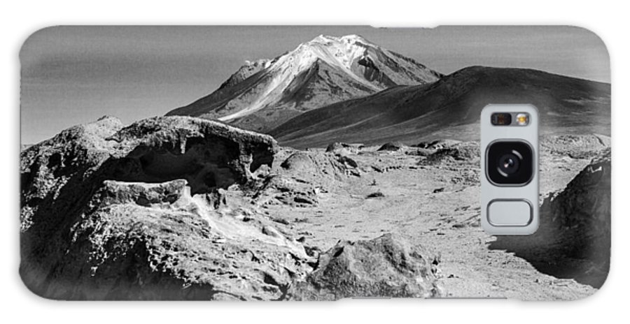 Desert Galaxy S8 Case featuring the photograph Bizarre Landscape Bolivia Black And White by For Ninety One Days