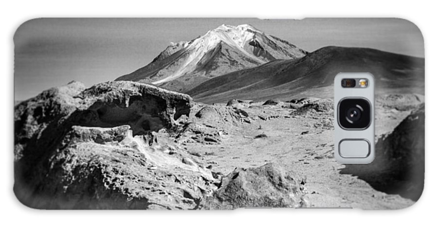 Desert Galaxy S8 Case featuring the photograph Bizarre Landscape Bolivia Black And White Select Focus by For Ninety One Days