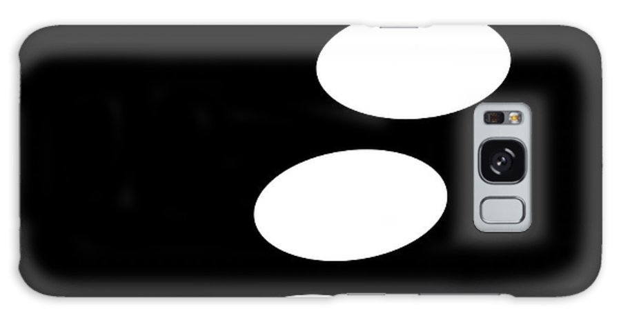 Black And White Galaxy S8 Case featuring the digital art Black And White Art - 122 by Ely Arsha