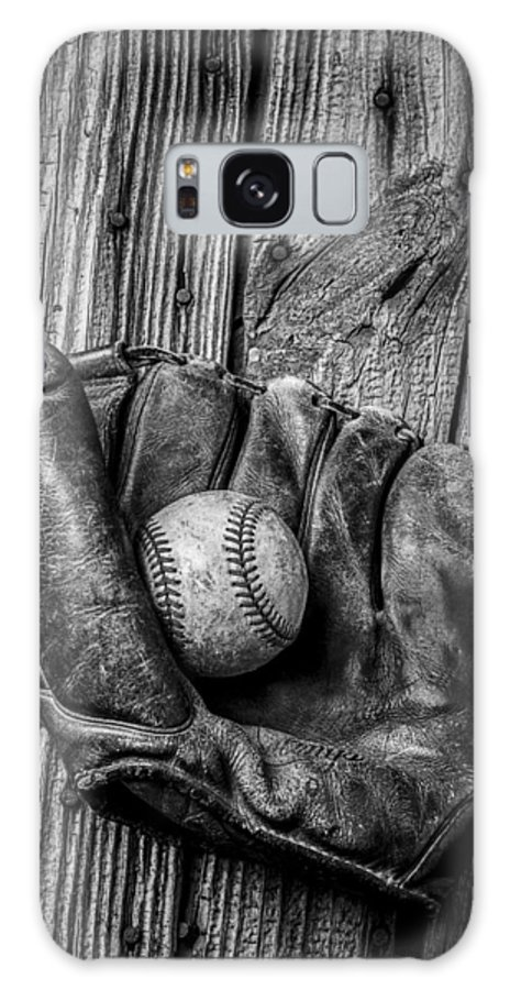 Black Galaxy Case featuring the photograph Black And White Mitt by Garry Gay