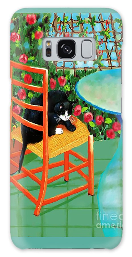 Key Words Black Cat Galaxy S8 Case featuring the digital art Black Cat by Dessie Durham