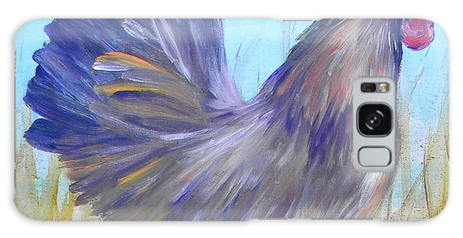 Chicken Galaxy S8 Case featuring the painting Black Copper Maran Rooster by Judy Bruning