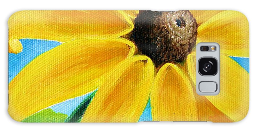 Black Eyed Susan Galaxy Case featuring the painting Black Eyed Susan by Sharon Marcella Marston
