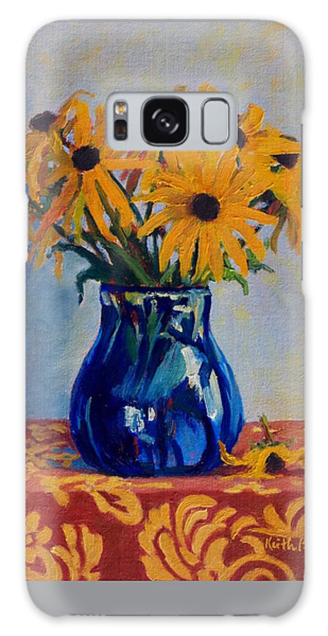 Impressionism Galaxy S8 Case featuring the painting Black Eyed Susans by Keith Burgess