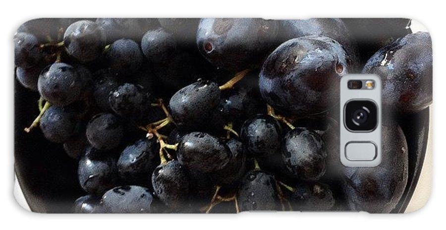 Black Galaxy S8 Case featuring the photograph Black Fruits by Sophia Rishkiene