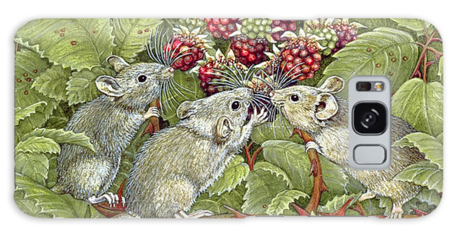 Field Mouse Galaxy S8 Case featuring the painting Blackberrying by Ditz