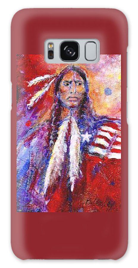 Native American Galaxy S8 Case featuring the painting Blackfeet by Barbara Lemley