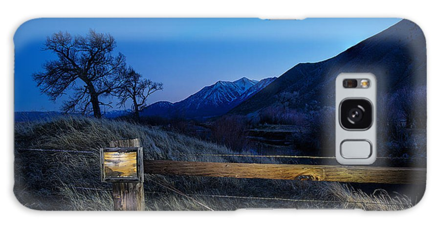 Light Painting Galaxy S8 Case featuring the photograph Blank Signage by Nancy Marie Ricketts