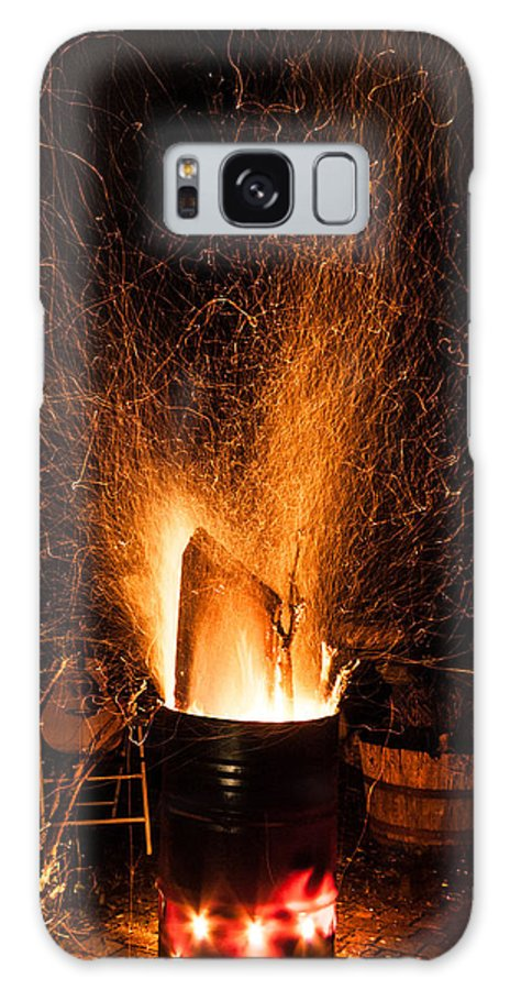 Burn Galaxy S8 Case featuring the photograph Blazing Bonfire by Semmick Photo