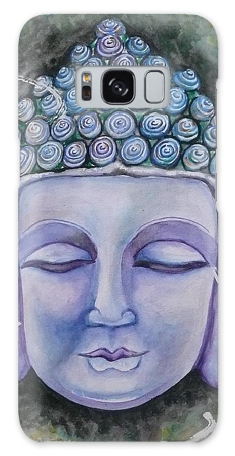 Buddha Galaxy S8 Case featuring the painting Bliss by E White