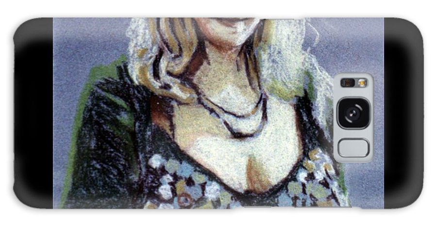 Portrait Galaxy S8 Case featuring the painting Blonde Bellydancer by Rachel Rose