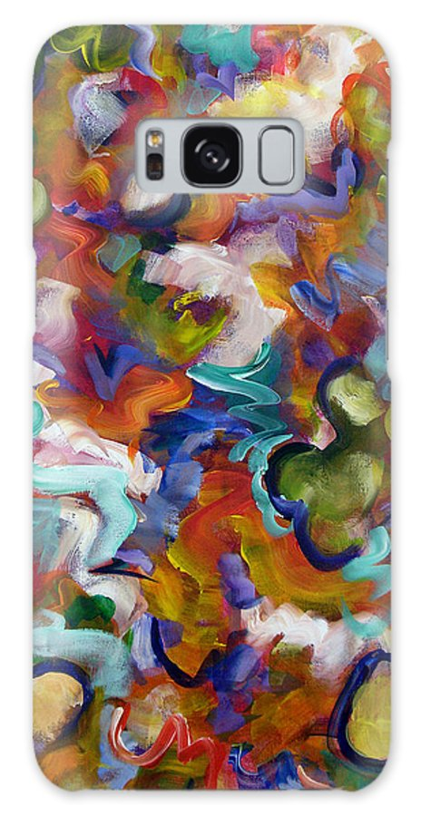 Abstract Galaxy S8 Case featuring the painting Blooming Joy by Lynda Lehmann