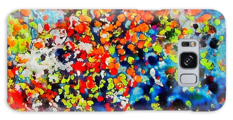 Flowers Galaxy S8 Case featuring the painting Blossoming Meadow by Dragica Micki Fortuna