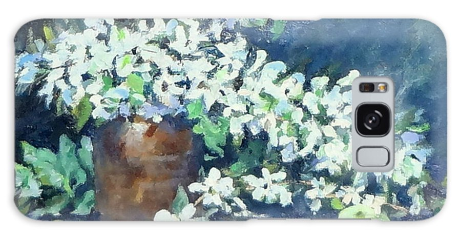Fine Art Painting Galaxy S8 Case featuring the painting Blossoms And Apples by Jennifer Calhoun