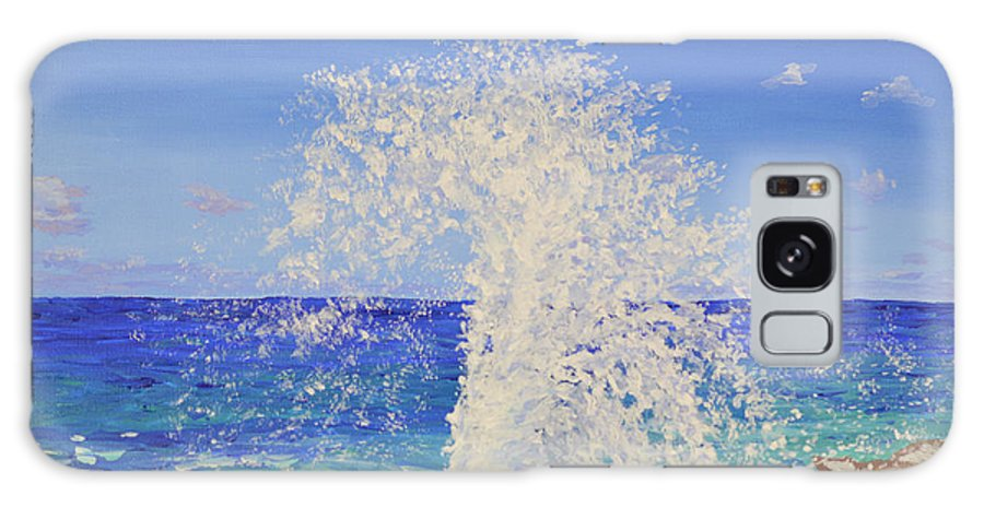 Blowhole Galaxy S8 Case featuring the painting Blow Holes Grand Cayman by Dorothy Krajewski