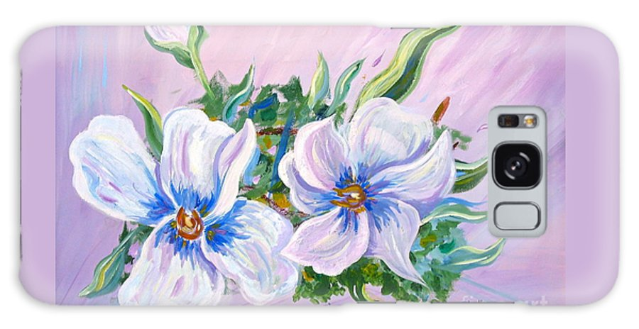 White Flowers Galaxy S8 Case featuring the painting Blowing In The Wind by Phyllis Kaltenbach