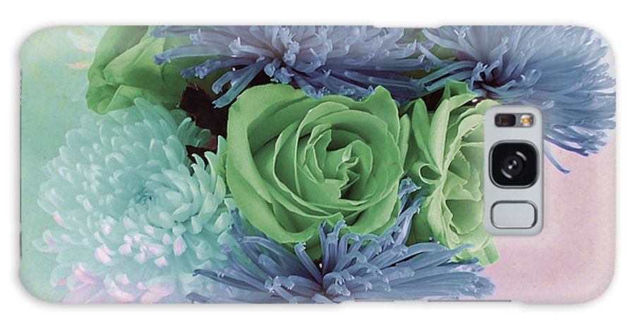 Computer Graphics Galaxy S8 Case featuring the photograph Blue And Green Flowers by Marian Bell