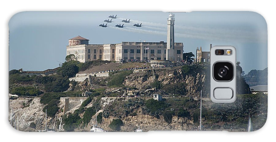Navy Galaxy S8 Case featuring the photograph Blue Angels Over Alcatraz by Mountain Dreams