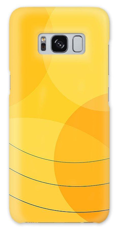 Abstract Galaxy S8 Case featuring the digital art Blue Arcs Through Orange Landscape by James Kramer