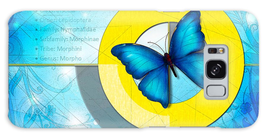 Blue Galaxy S8 Case featuring the digital art Blue Butterfly by Peter Awax