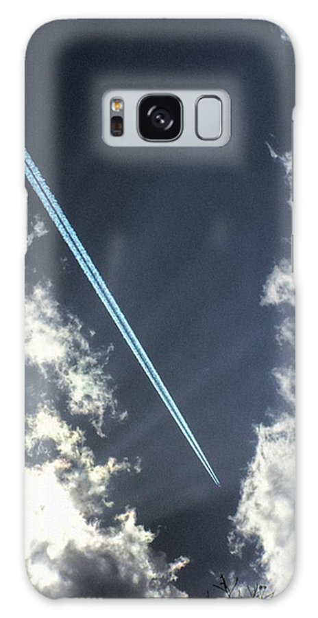 Jet Galaxy S8 Case featuring the photograph Blue Contrail by Shannon Story