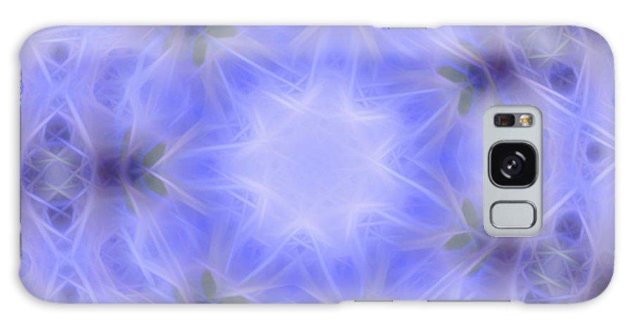 Blue Galaxy S8 Case featuring the digital art Blue Crystallized 1 by Rhonda Barrett