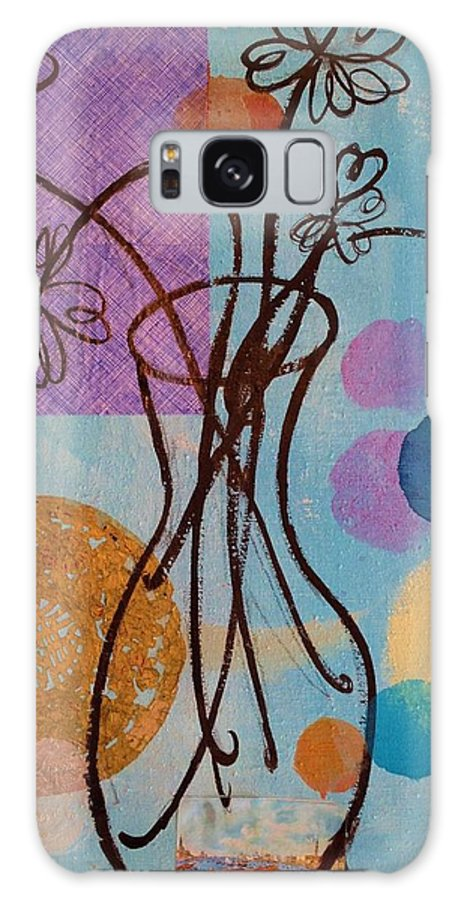 Daisy's Still Life Galaxy S8 Case featuring the painting Blue Daisy's  by Melinda Jones