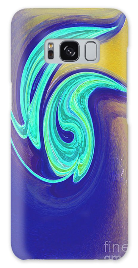 First Star Art Galaxy S8 Case featuring the painting Blue Dance By Jrr by First Star Art