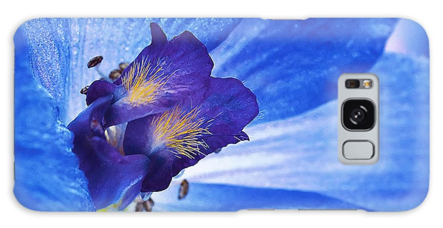 Blue Delphinium Galaxy S8 Case featuring the photograph Blue Delphinium by Ingrid Smith-Johnsen