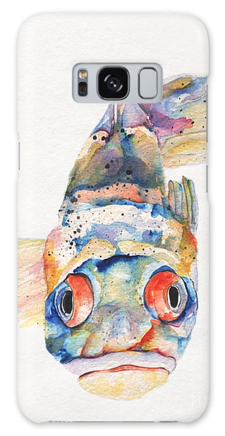 Pat Saunders-white Galaxy S8 Case featuring the painting Blue Fish  by Pat Saunders-White