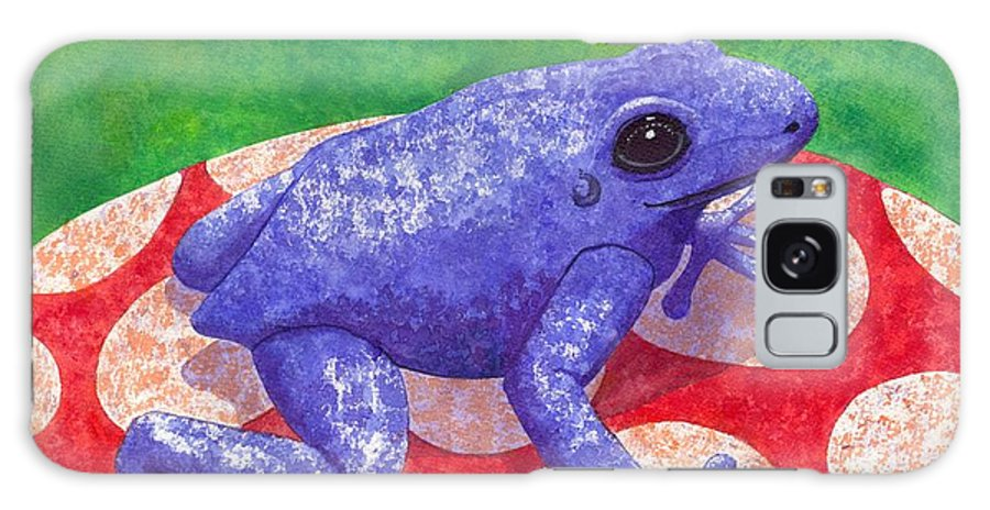 Frog Galaxy S8 Case featuring the painting Blue Frog by Catherine G McElroy