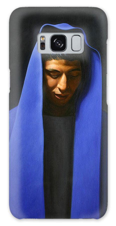 Blue Galaxy S8 Case featuring the painting Blue by Gary Hernandez