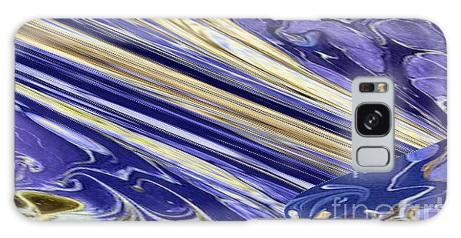Living Room Galaxy S8 Case featuring the ceramic art Blue Gold by Gabriele Mueller