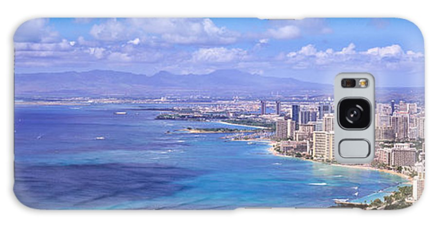 Waikiki Galaxy S8 Case featuring the photograph Blue Hawaii by Les Palenik