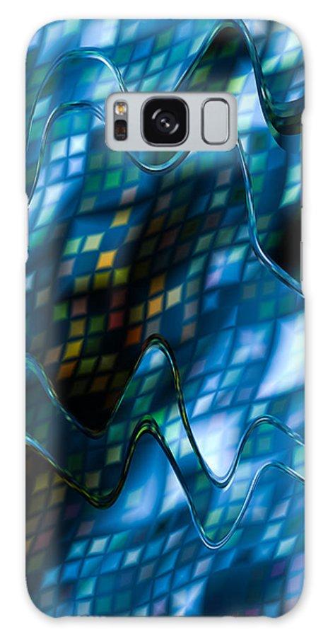 Blue Galaxy S8 Case featuring the digital art Blue Mist by Hakon Soreide