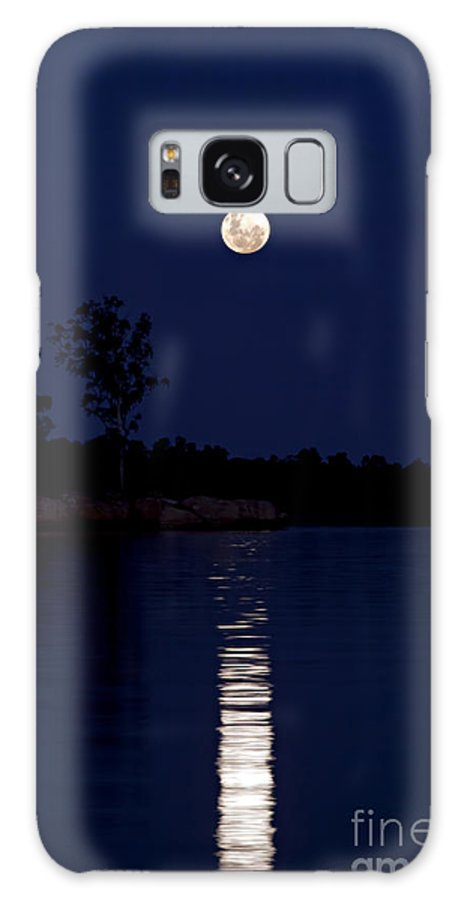 Pam B Galaxy S8 Case featuring the photograph Blue Moon by Pam B