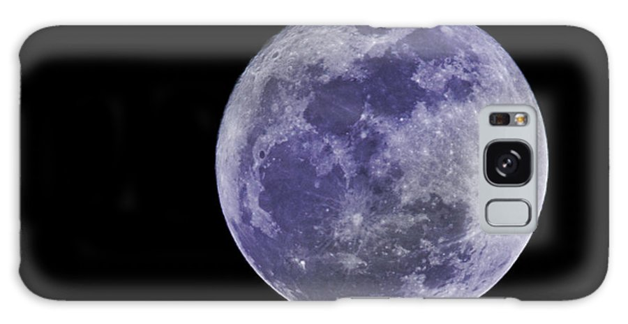Moon Galaxy S8 Case featuring the photograph Blue Moon by Regina Williams