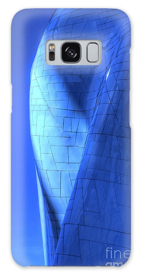 Abstract Galaxy S8 Case featuring the photograph Blue On Blue by Chris Anderson