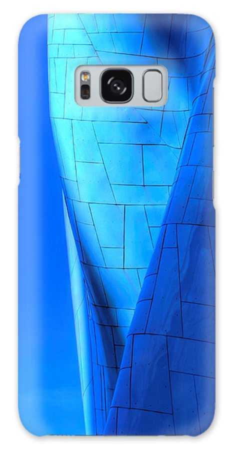 Abstract Galaxy S8 Case featuring the photograph Blue On Blue Cropped Version by Chris Anderson