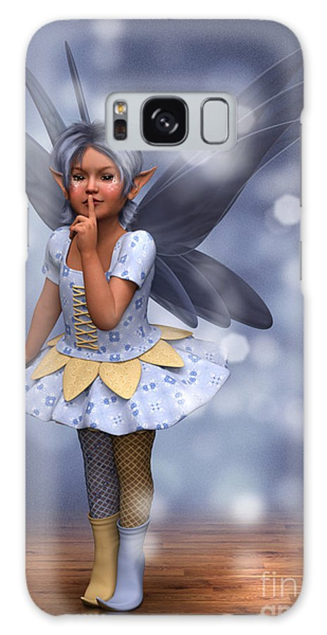 Fairy Galaxy S8 Case featuring the digital art Blue Pixie by Elle Arden Walby