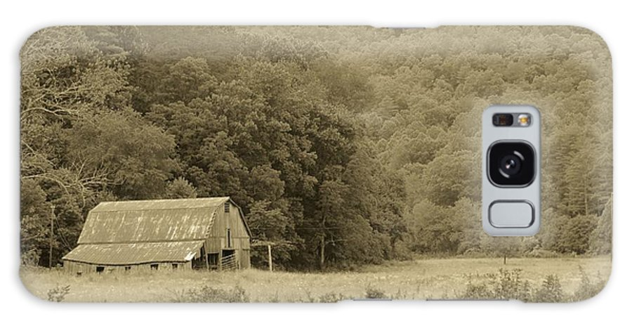 Barn Galaxy S8 Case featuring the photograph Blue Ridge In Sepia by Sandra Reeves
