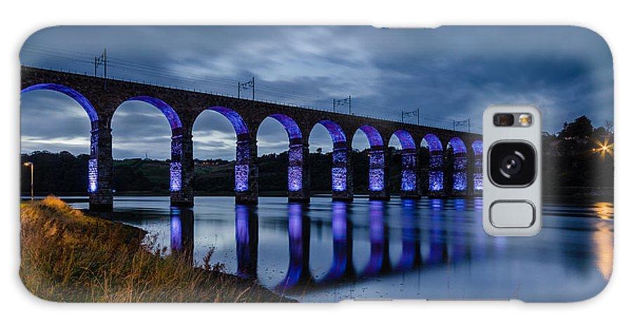 Northumberland Galaxy S8 Case featuring the photograph Blue Royal Border Bridge by David Head