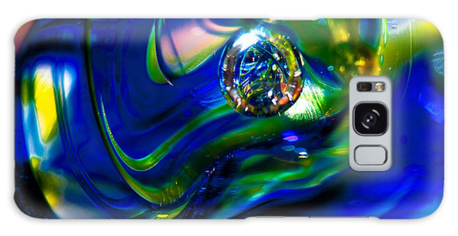 Glass Galaxy S8 Case featuring the photograph Blue Swirls by David Patterson