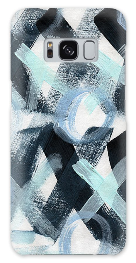 Love Galaxy S8 Case featuring the painting Blue Valentine- Abstract Painting by Linda Woods