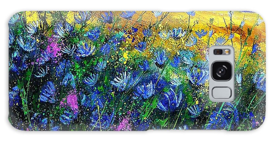 Flowers Galaxy S8 Case featuring the painting Blue Wild Chicorees by Pol Ledent