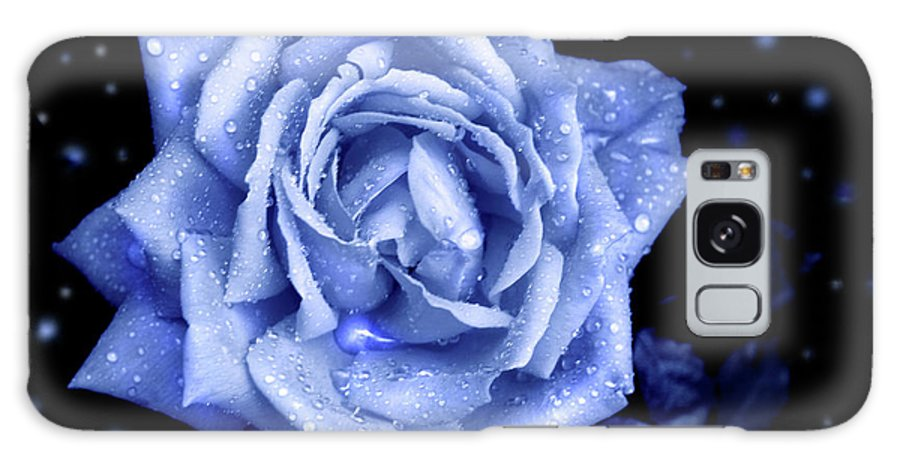 Rose Galaxy S8 Case featuring the photograph Blue Without You by Nina Fosdick
