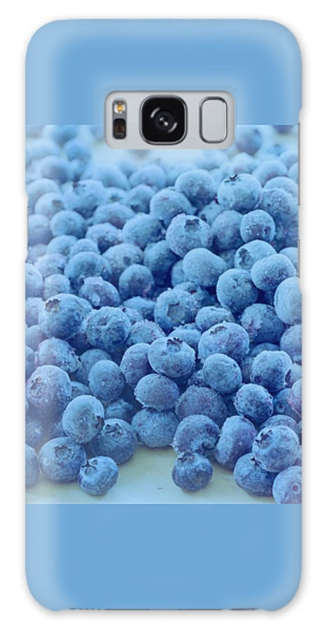 Berries Galaxy Case featuring the photograph Blueberries by Romulo Yanes
