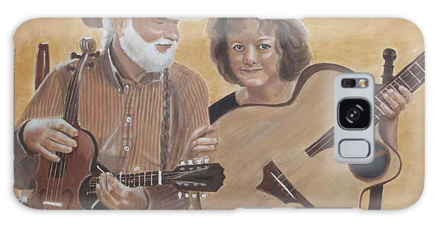 Portraits Galaxy S8 Case featuring the painting Bluegrass Music by Kathie Camara